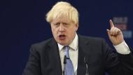 Boris Johnson am Mittwoch in Manchester