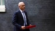 Der britische Gesundheitsminister Sajid Javid am 30. Juni in Downing Street, London