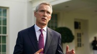 Nato-Generalsekretär Jens Stoltenberg am Montag in Washington