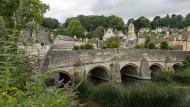 Seit vierhundert Jahren trockenen Fußes über den Fluss: Die Brücke bei Bradford-on-Avon.