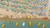 Ein faszinierendes Soziotop: Strandbad zwischen Ravenna und Rimini.