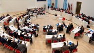 Kein einfaches Zusammenarbeiten: der brandenburgische Landtag
