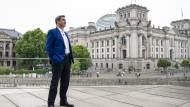 Sein Platz war an diesem Tag nicht in Bayern: Markus Söder am Sonntag in Berlin