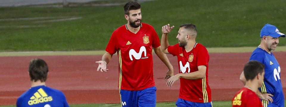 Das Training der spanischen Nationalmannschaft dauerte nur zwanzig Minuten.