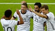 Die deutschen Spieler hatten Spaß beim Testspiel gegen Lettland.