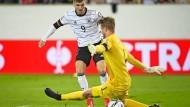 Auf ein Neues: Timo Werner erzielt gegen Liechtenstein  das erste Tor der Ära Flick.