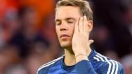 """""""Eine Mitschuld habe ich auf jeden Fall"""": Manuel Neuer zum 0:1 beim Spiel in den Niederlanden."""