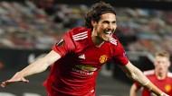 Tor um Tor: Manchester United um Edinson Cavani lässt AS Rom keine Chance.