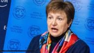 Die IWF-Direktorin Kristalina Georgiewa sieht für die Weltwirtschaft schwarz in diesem Jahr.