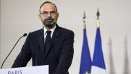 Frankreichs Premierminister Edouard Philippe spricht in Paris über die geplante Rentenreform