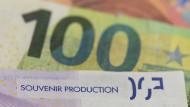 Gefälschte Euro-Banknoten in der Bundesbank-Zentrale