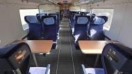 So sieht man das als Fahrgast derzeit gerne: leere Sitze im ICE