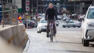 Radfahrer auf der Heilbronner Straße dürfen weiter fahren.