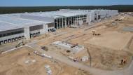 Das Baugelände der Tesla Gigafactory östlich von Berlin
