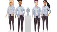 """Der Spielwarenindustrie zeigt wie es geht: Die Babie-Puppe """"Robotik-ingenieurin"""" in diversen Ausführungen."""