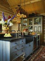 Rustikale, gemütliche Küche mit einem … – Bild kaufen ...