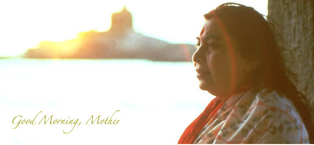 Shri Mataji at the Ocean Sunrise/Sunset: Morning Sahaja Yoga Online Meditation