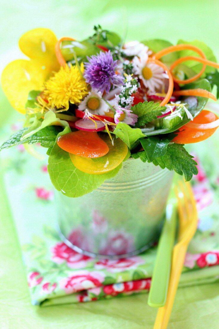 Bunch-style salad