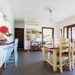 Country Style Dining Area Light Blue Buy Image 11968129 Living4media