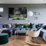 Blue Sofa Combination Green Pouffe And Buy Image 12577397 Living4media