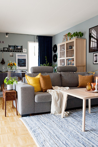 Living Room In Shades Of Grey And Brown Buy Image 12470087 Living4media