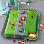 A Racetrack Birthday Cake License Images 12425325 Stockfood