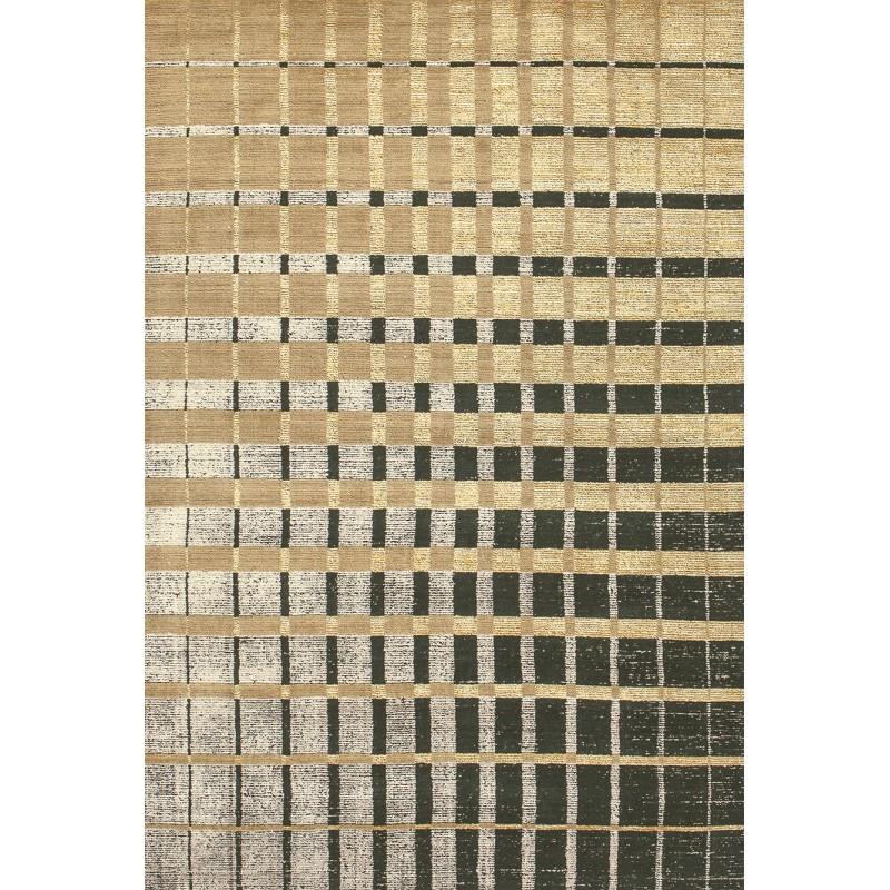 tapis isadora or geometrique en laine et bambou toulemonde bochart