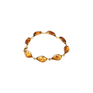 Classy bracelet with cognac amber
