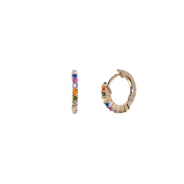 Rainbow gold earrings