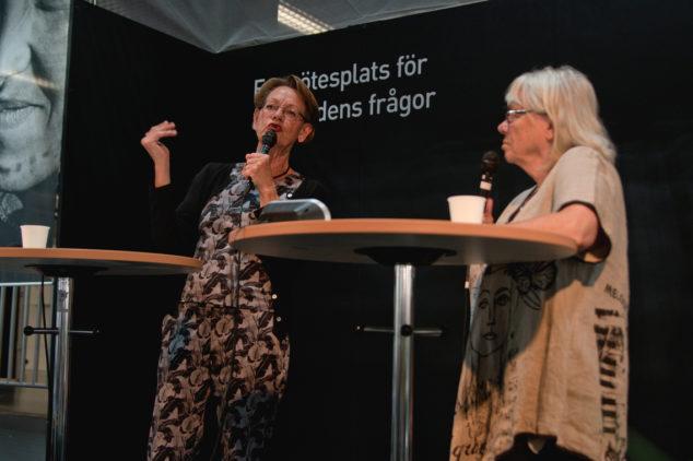 Gudrun Schyman och Ingela Mårtensson