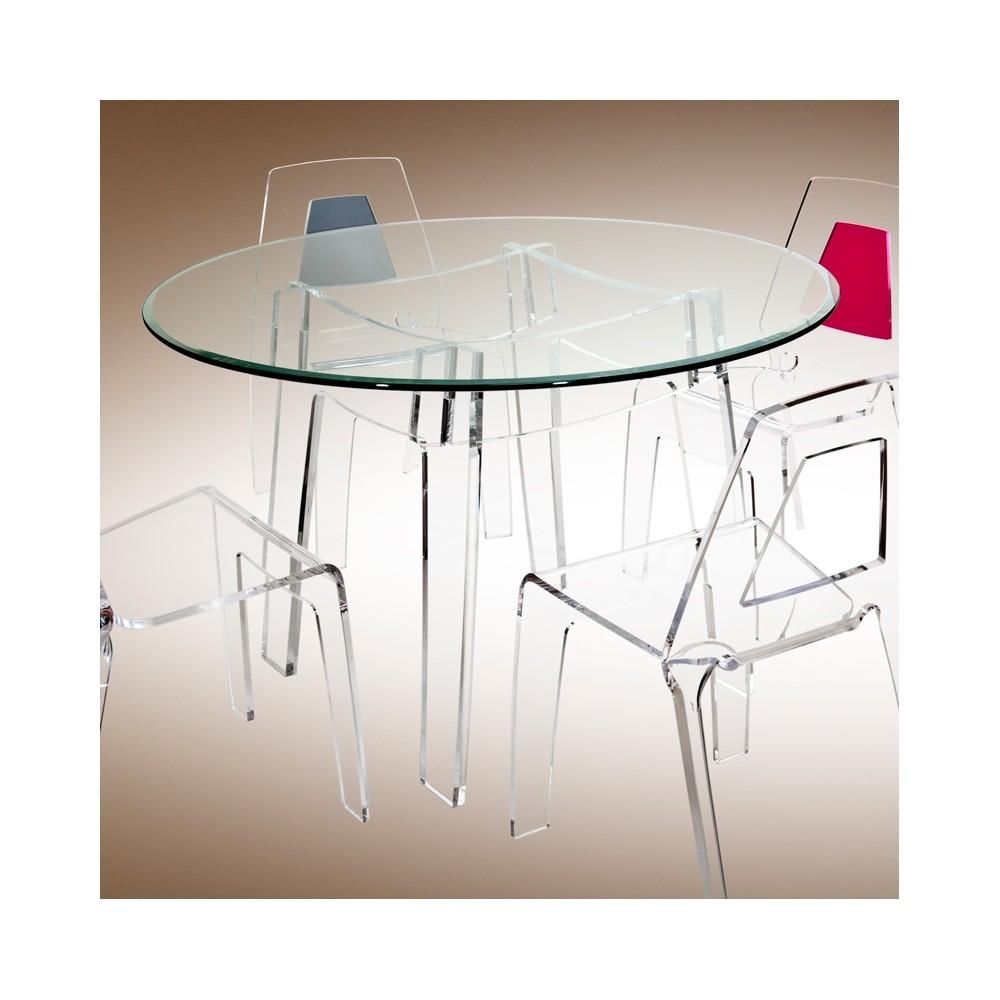 table verre acrylique