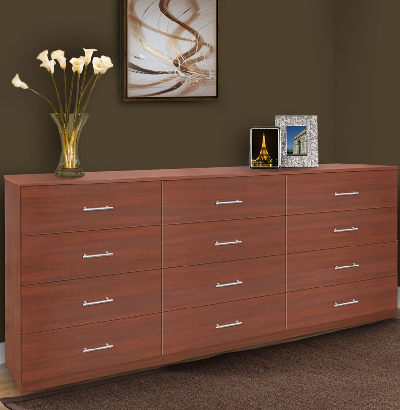 Modern 12 Drawer Triple Dresser Contempo Space