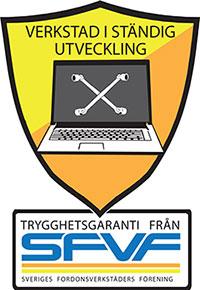Bilverkstad Linköping. Däckstop GMG Motor AB är certifierad SFVF verkstad. SFVF Sigillet sitter på entredörren!