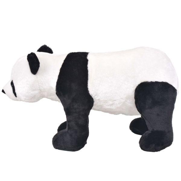 vidaXL Stående leksakspanda plysch svart och vit XXL