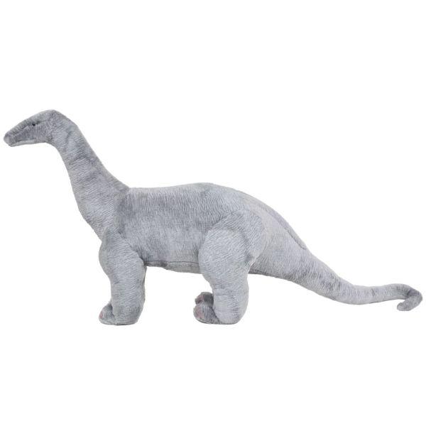 vidaXL Stående plyschleksak brachiosaurus grå XXL