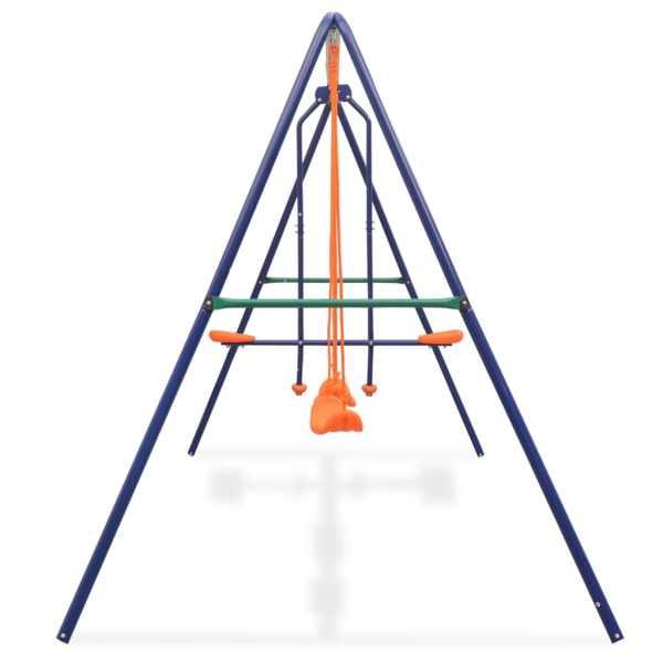 vidaXL Gungställning med 4 sitsar orange