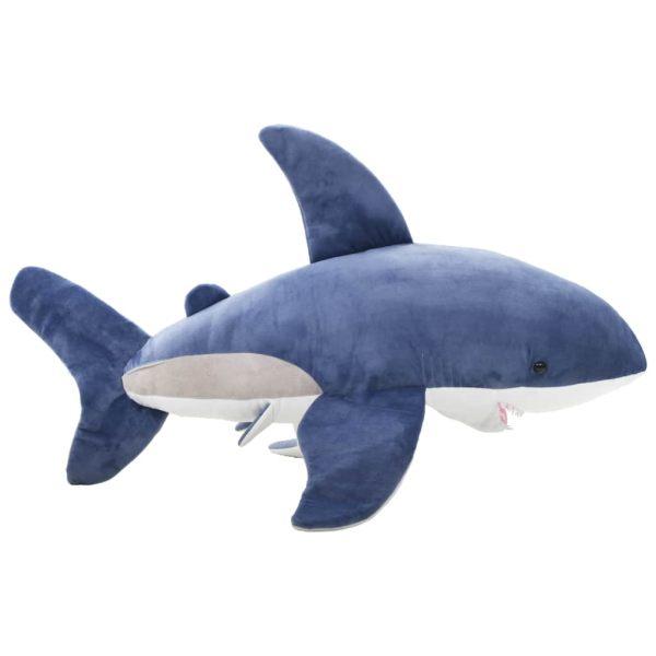 vidaXL Gosedjur haj plysch blå och vit