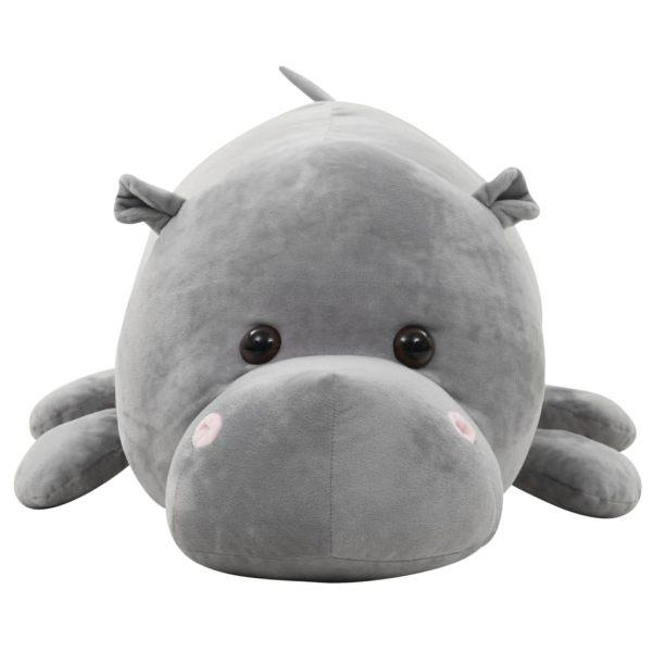 vidaXL Gosedjur flodhäst plysch grå