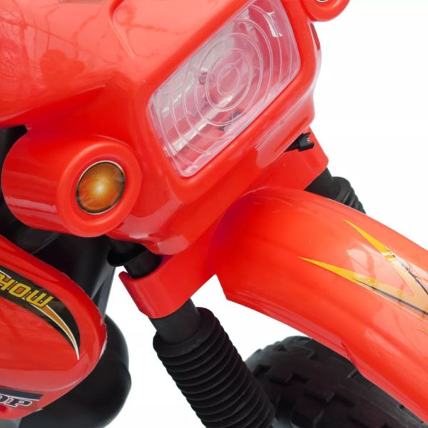 Elmotorcyke förl barn Powersports rödsvart