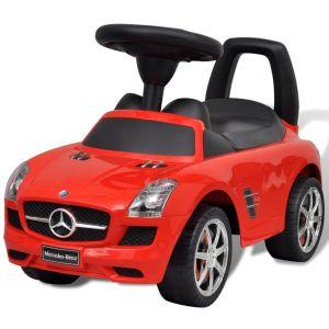 Röd Mercedes Benz trampbil