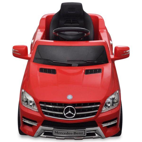 Elbil för barn Mercedes Benz ML350 med fjärrkontroll röd 6 V