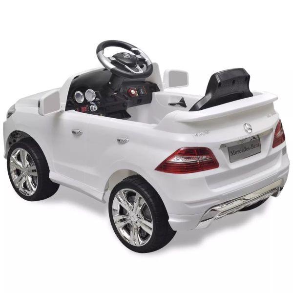 Elbil för barn Mercedes Benz ML350 med fjärrkontroll vit 6 V