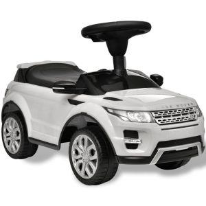 Åkbil för barn Land Rover 348 med musik vit