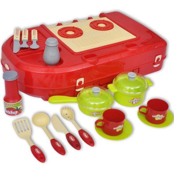 Leksakskök för barn med ljus- och ljudeffekter
