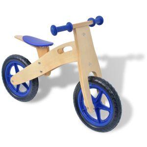 vidaXL Balanscykel i trä blå