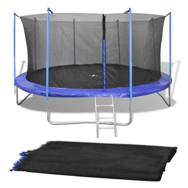 vidaXL Säkerhetsnät PE svart för 4,26 m rund studsmatta