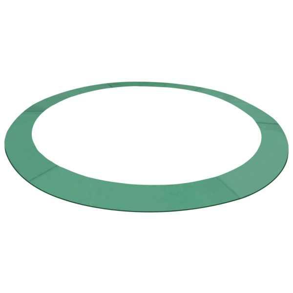 vidaXL Kantskydd PE grön för 14 fot/4,26 m rund studsmatta