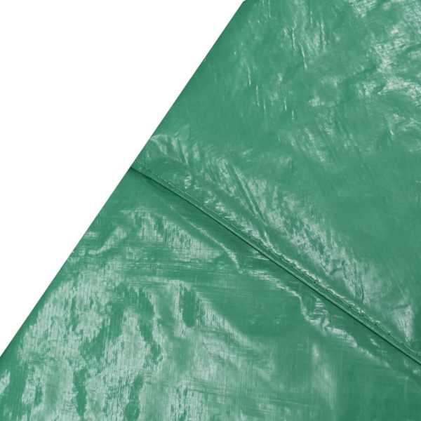 vidaXL Kantskydd PE grön för 15 fot/4,57 m rund studsmatta