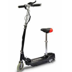 vidaXL Elektrisk sparkcykel med sadel 120 W svart