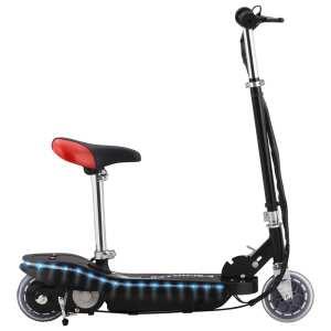 vidaXL Elektrisk sparkcykel med sits och LED 120 W svart